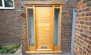 custom joinery wooden door