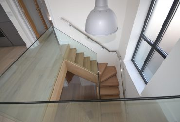 Glass and Oak Staircase