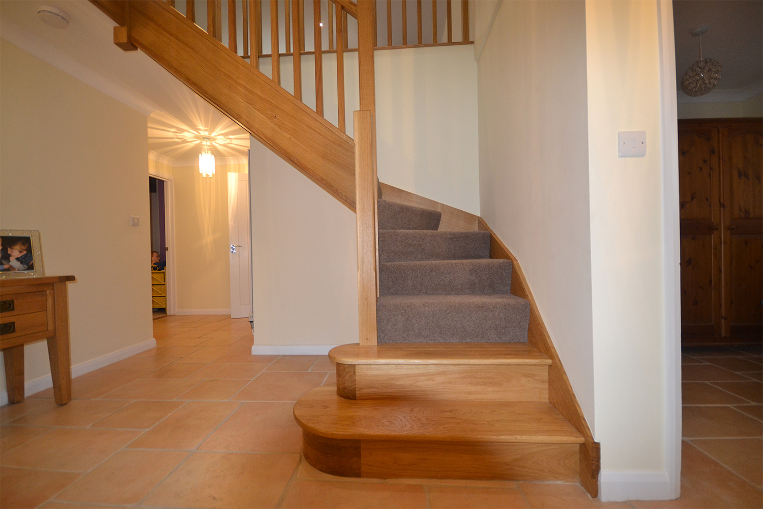 Bespoke Oak Staircase For Bungalow Loft Conversion