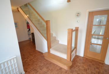 oak and glass staircase renovation 1